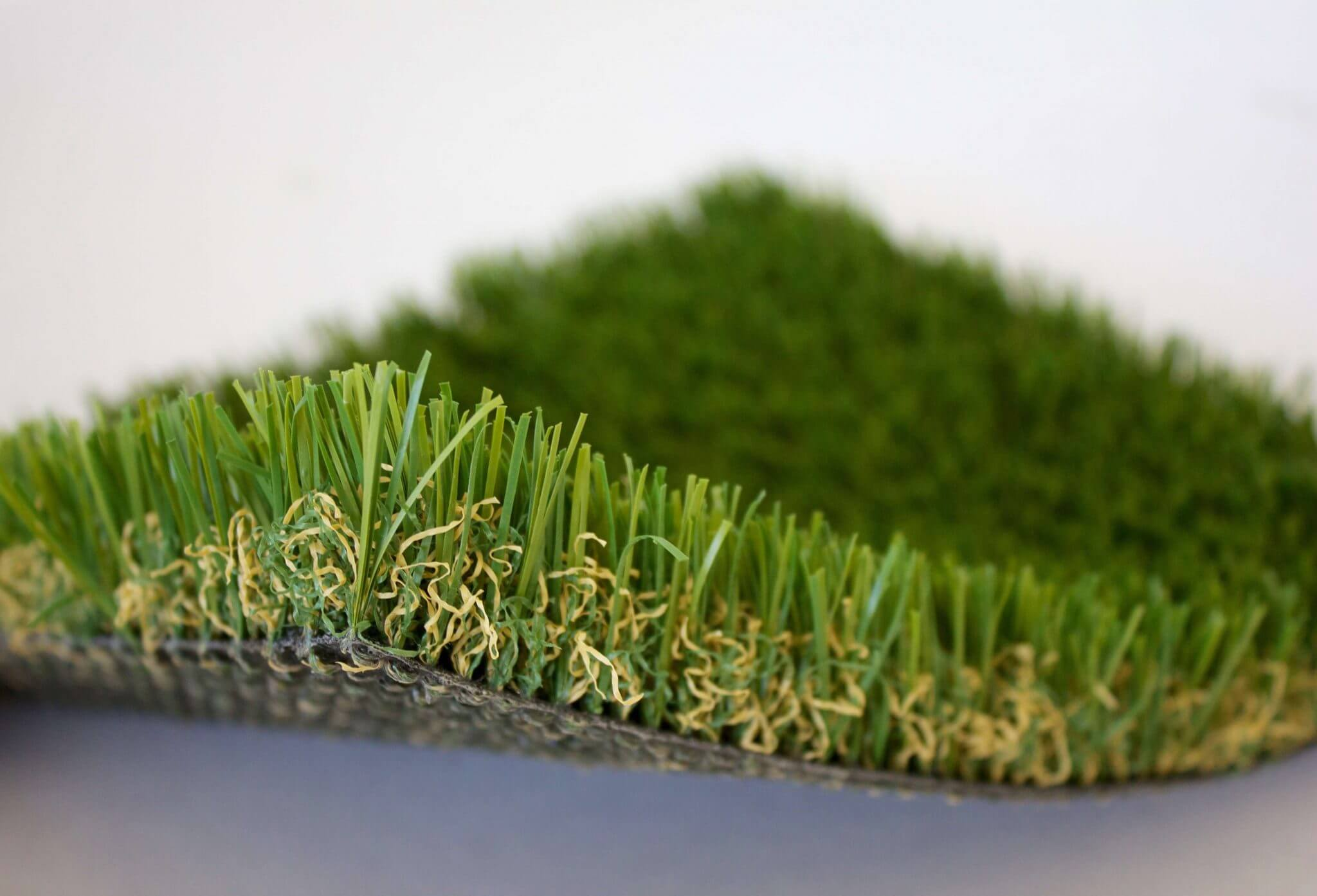 Picture of corner of cut tan thatch petgrass