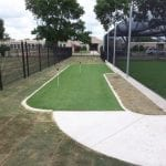 Synthetic Turf Putting Green by driving cages