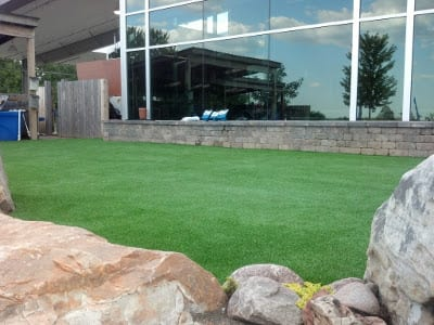 Artificial Turf for an area in front of business - Commercial Usage Photo