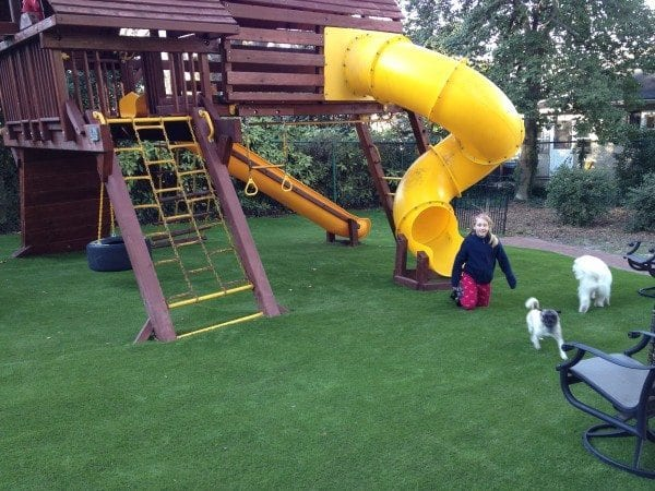 Residential Playground set on Perfect Turf