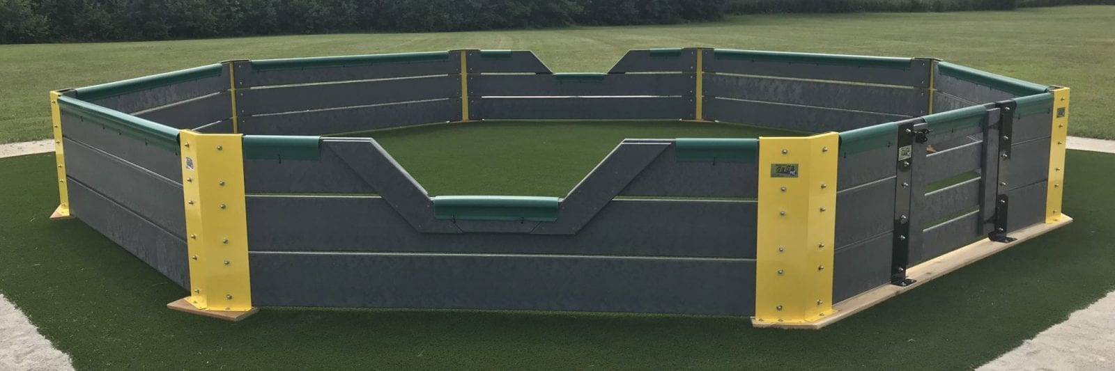 Gaga ball pit using synthetic turf