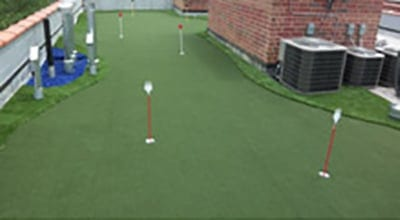 Residential Rooftop Putting Green