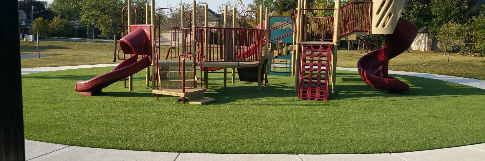 Playground in Itasca using PerfectPlay playground safety system