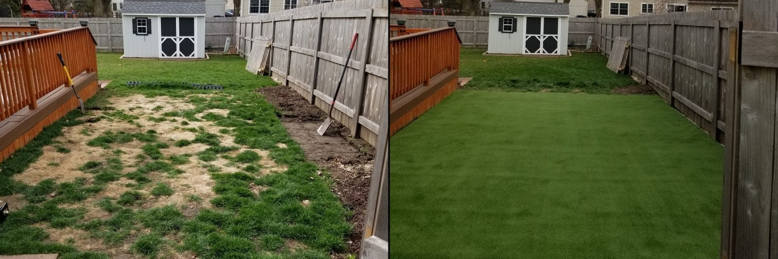 Before and After of Residential Lawn